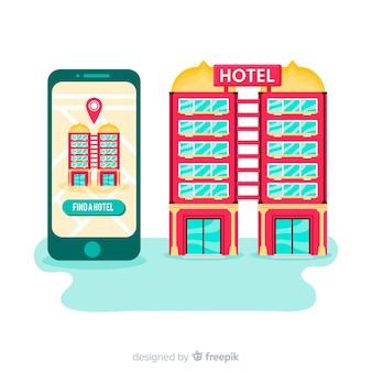 Fond de concept de réservation d'hôtel