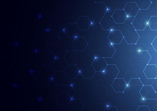 Fond de concept de science abstraite polygonale