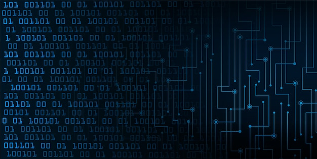 Fond de concept de technologie futur bleu cyber