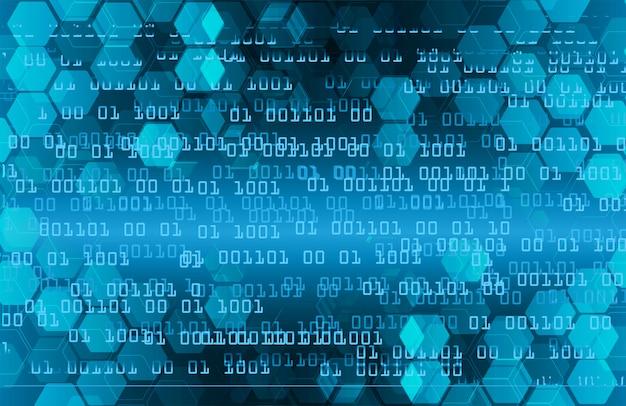 Fond de concept technologie future cyber circuit binaire bleu