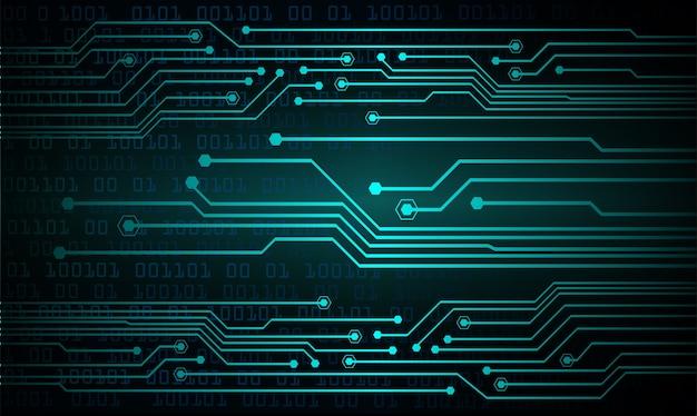 Fond de concept de technologie future cyber circuit bleu