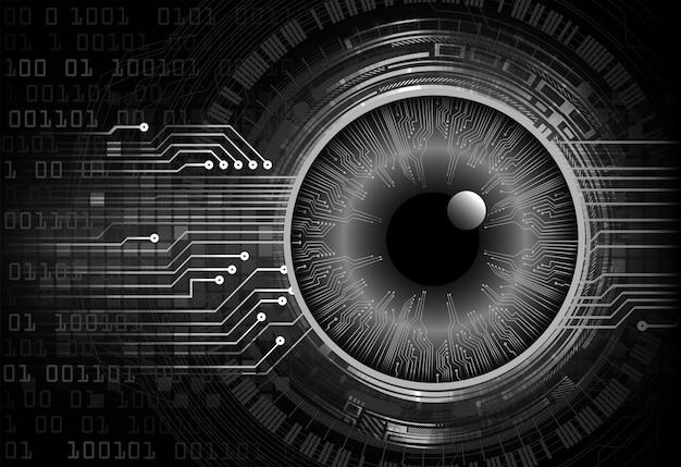 Fond de concept de technologie future cyber circuit oeil noir