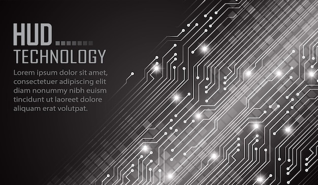 Fond de concept de technologie future de cyber circuit