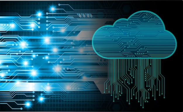 Fond de concept de technologie future du circuit informatique en nuage