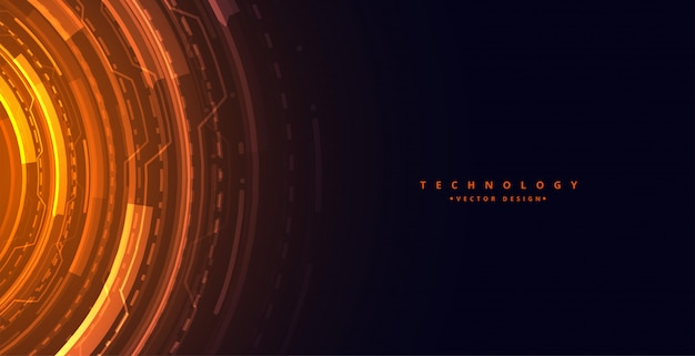 Fond de concept de technologie futuriste avec schéma numérique