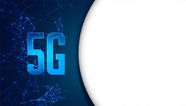 Fond de concept de technologie mobile de cinquième génération