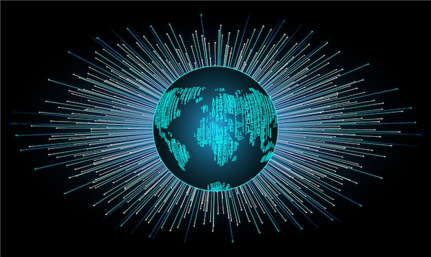 Fond de concept de technologie mondiale futur cyber circuit