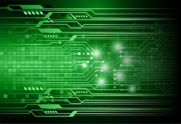 Fond de concept de technologie verte cyber circuit futur