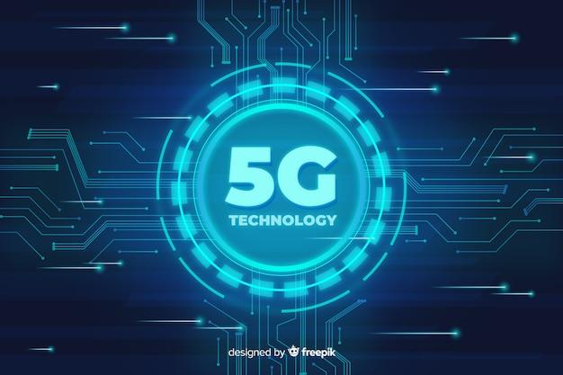 Fond de concept technologique 5g