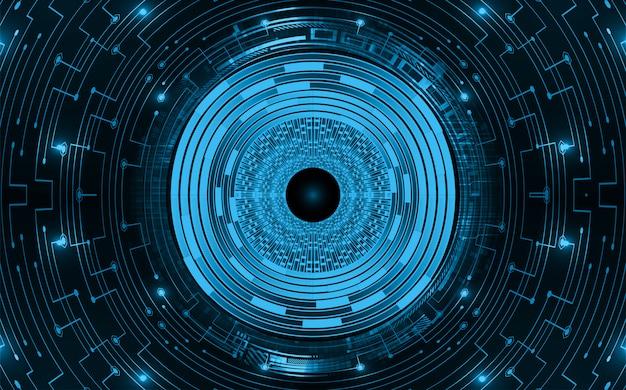 Fond de concept technologique futur cyber-circuit bleu