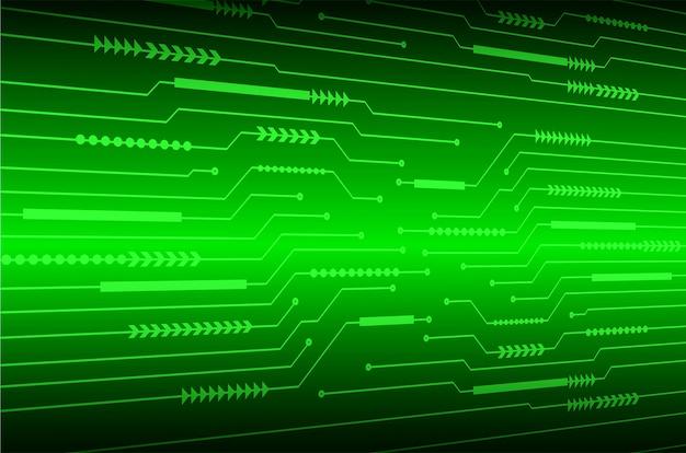 Fond de concept technologique futur cyber-circuit vert
