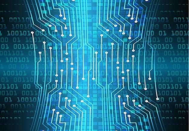 Fond de concept technologique futur cybercircuit bleu