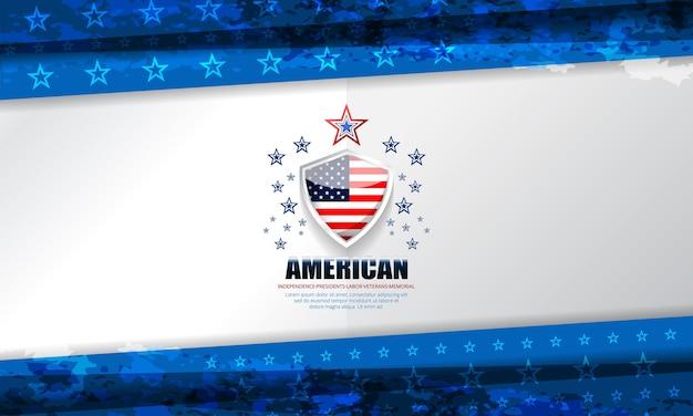 Fond de concept usa drapeau drapeau pour l'indépendance