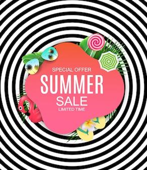 Fond de concept de vente de l'été.