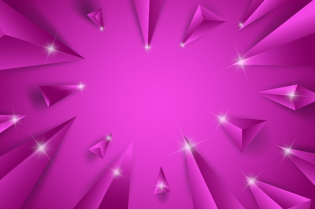 Fond de concept violet triangle 3d
