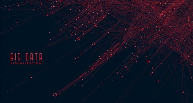 Fond de concept de visualisation de données volumineuses