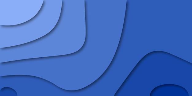 Fond de conception 3d avec courbe abstraite dans le style de papier découpé.