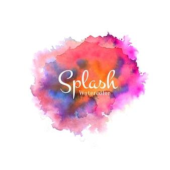 Fond de conception abstraite aquarelle décorative splash