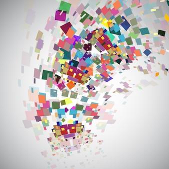 Fond de conception abstraite avec effet de rupture de couleur