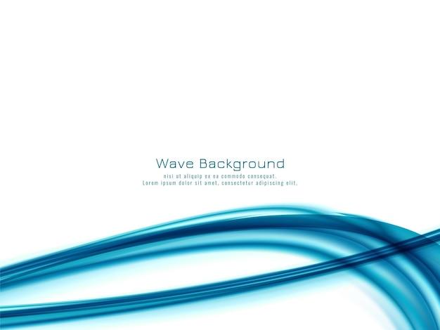 Fond de conception abstraite vague bleue