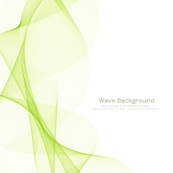 Fond de conception abstraite vague verte élégante