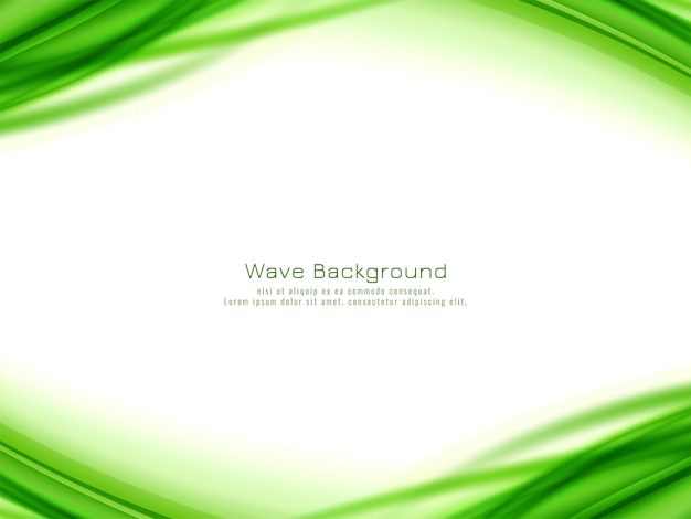 Fond de conception abstraite vague verte