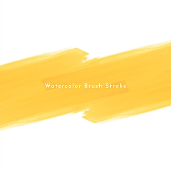 Fond de conception de coup de pinceau aquarelle jaune