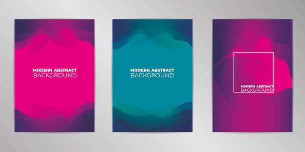 Fond de conception de couverture moderne défini au format a4
