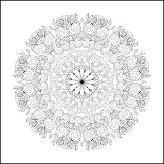 Fond de conception d'effet de mandala ornemental de luxe en couleur or