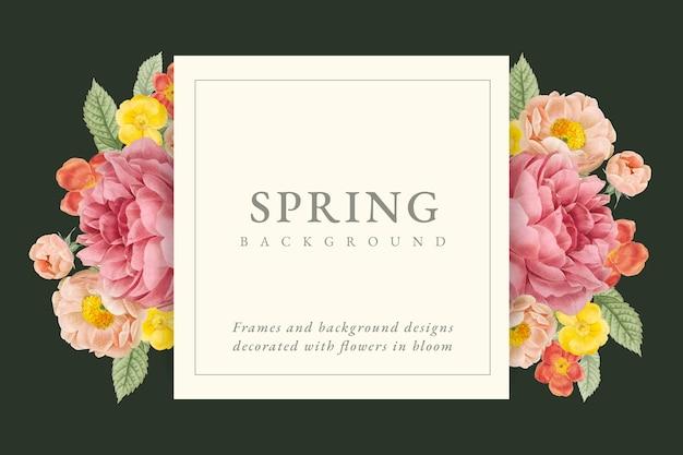Fond de conception florale