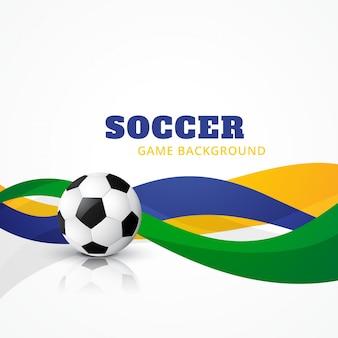 Fond de conception de football créatif