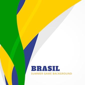 Fond de conception de jeux d'été du brésil