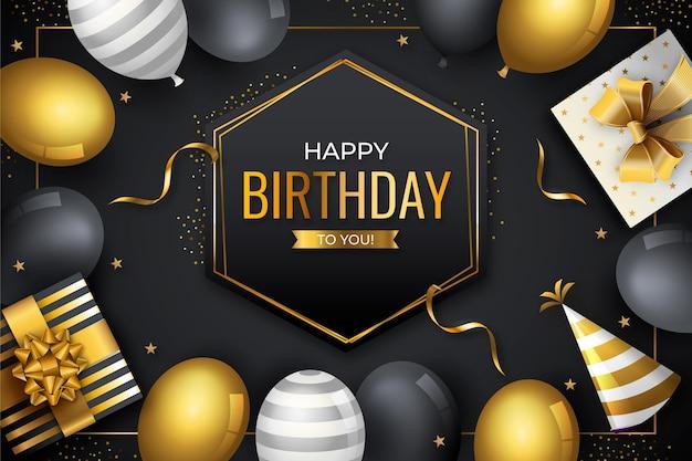 Fond de conception de joyeux anniversaire