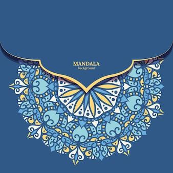 Fond de conception de mandala coloré ornemental de luxe