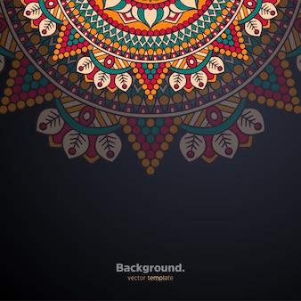 Fond de conception de mandala ornemental de luxe coloré