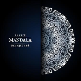 Fond de conception de mandala ornemental de luxe en couleur or, fond de mandala de luxe pour invitation de mariage, couverture de livre.