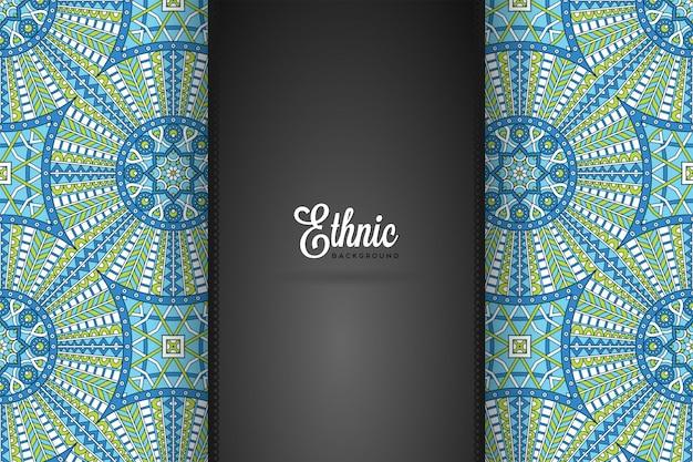 Fond de conception de mandala ornemental de luxe en couleur or