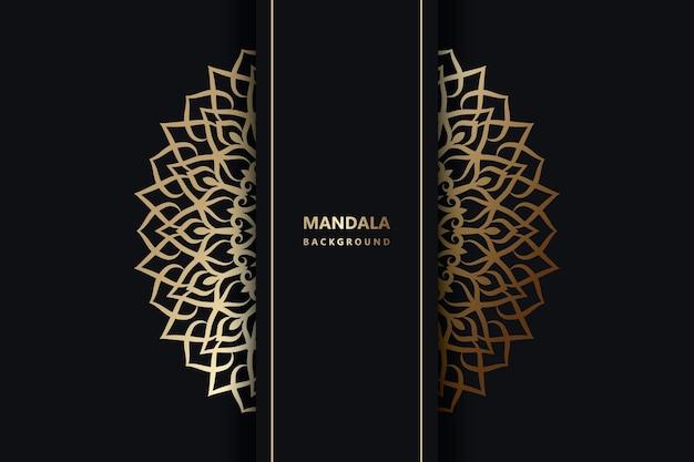 Fond de conception de mandala ornemental de luxe vecteur premium