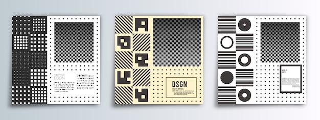 Fond de conception minimale bannière carrée