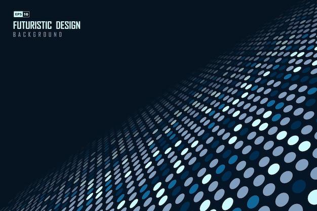 Fond de conception de modèle de particules de points bleus abstraits de la technologie.