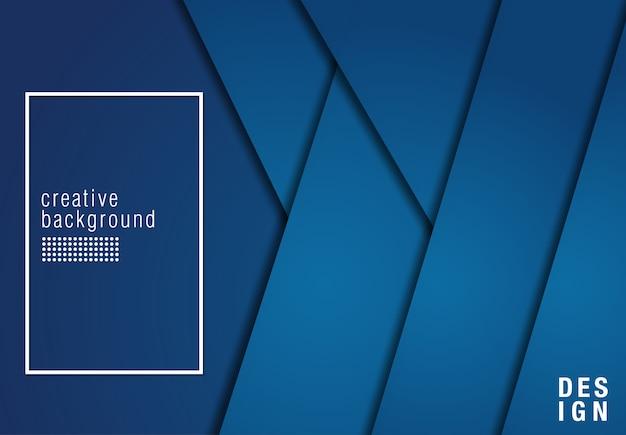 Fond de conception moderne de chevauchement bleu