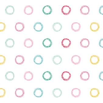 Fond de conception de motif de cercles colorés