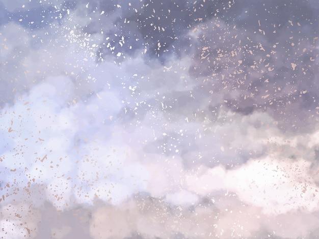 Fond de conception de nuages roses et bleus doux