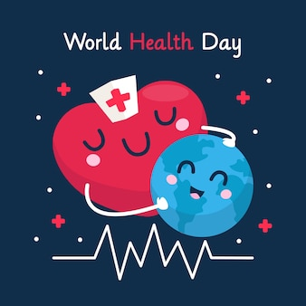 Fond de conception plate journée mondiale de la santé