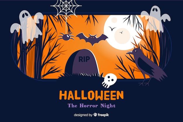 Fond de conception plate pour halloween