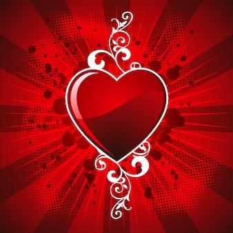 Fond la conception de la saint-valentin