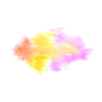 Fond de conception de tache aquarelle splash coloré