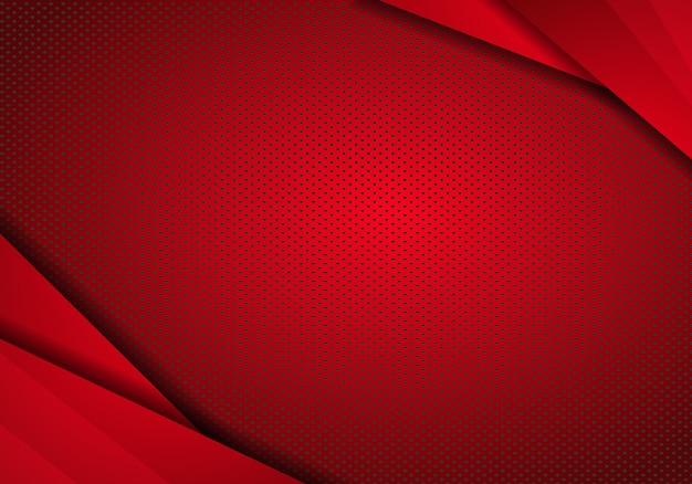 Fond de conception de technologie moderne rouge