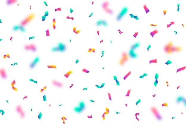 Fond de confettis au design plat