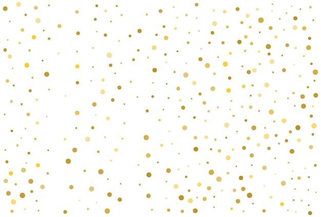 Fond de confettis cercle classique de paillettes d'or
